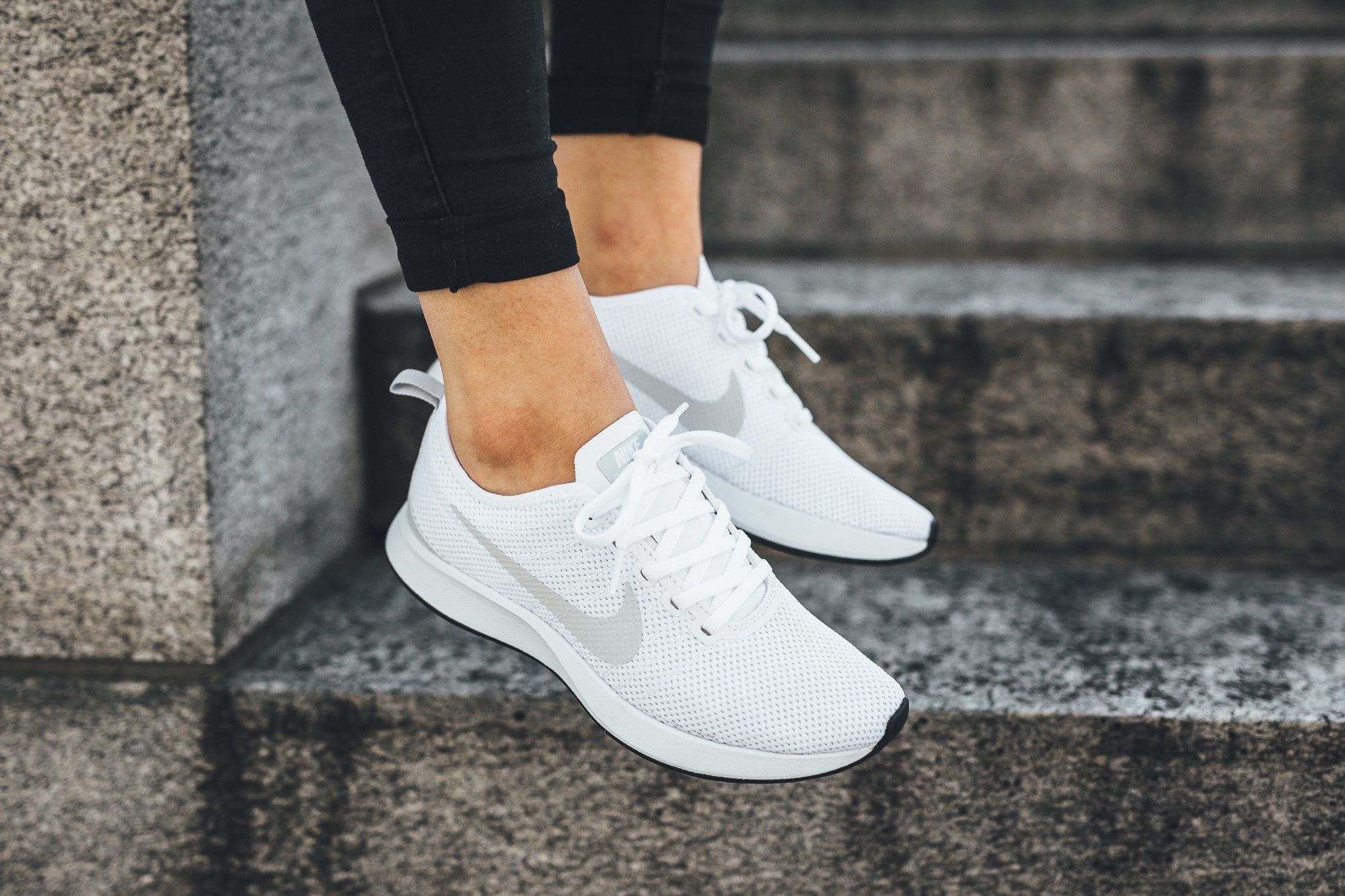 Nike's Dualtone Racer Gets Touched by an Angel: Nike's Dualtone Racer  arrives in a wispy white sent from the cloudy skies above.