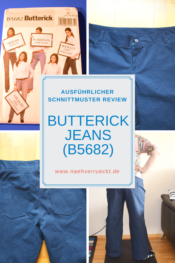Schnittmuster Review: Butterick Jeans (B5682) -