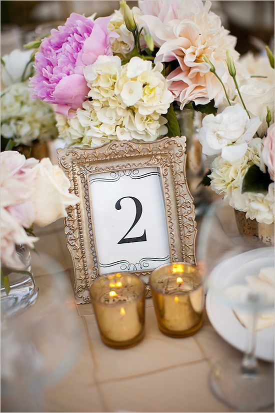 Picture Frame Table Numbers Spray Paint Old Frames From The Thrift Gold Or Silver