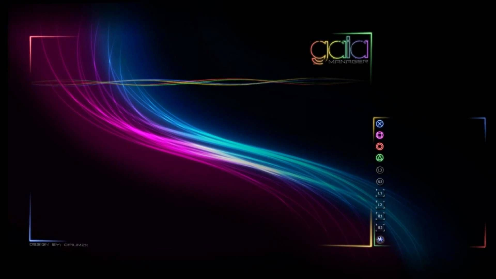 Ps3 Gaia Manager Themes Background Wallpaper Luminous