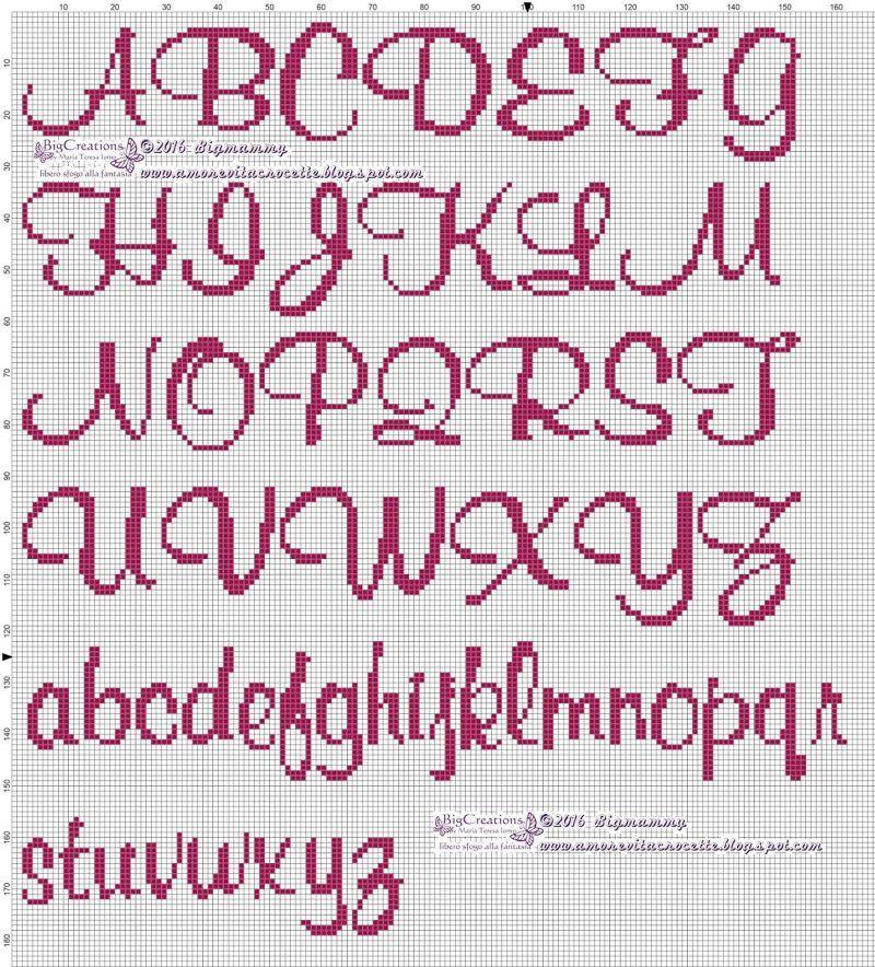 Lettere alfabeto punto croce stampatello lettere dell for Alfabeti a punto croce per bambini