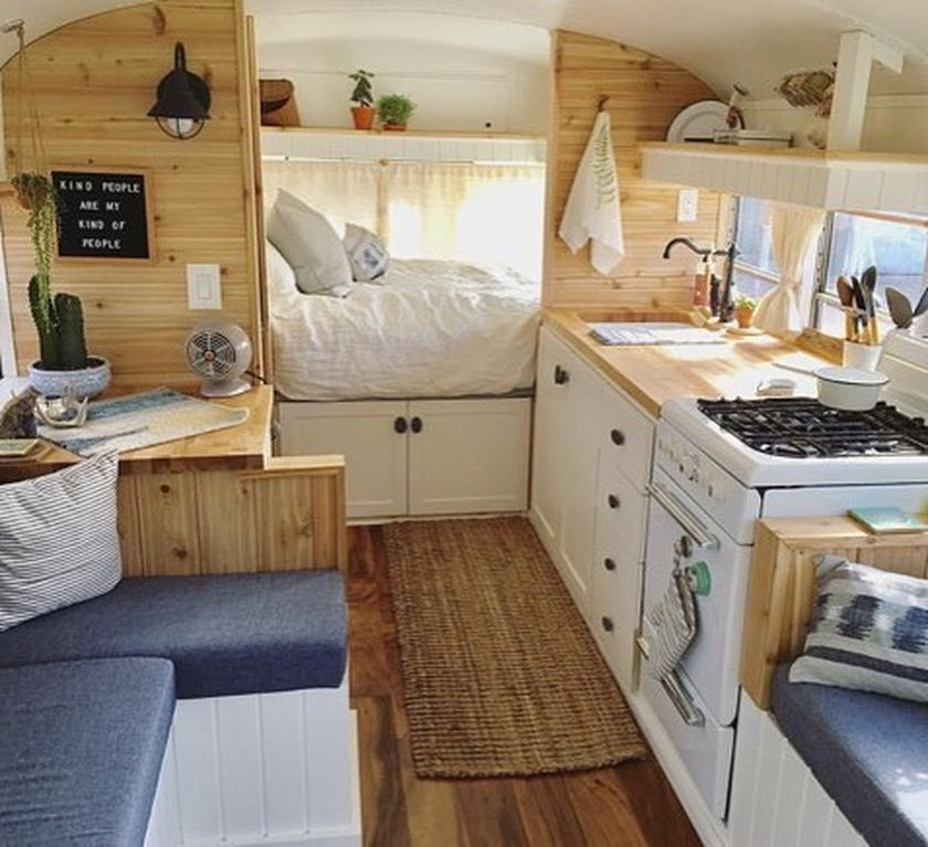 60 Kitchen Interior Design Ideas With Tips To Make One: Fabulous RV Camper Vintage Bedroom Interior Design Ideas