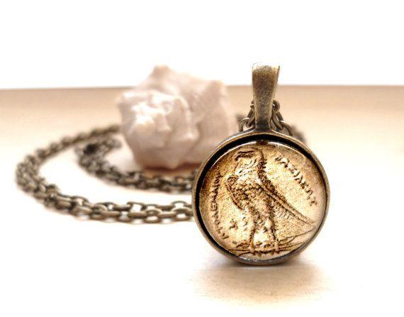 #ArtPassionBijoux bySara, #italian  #jewelry inspiredBy #art - Ancient #Egypt #coin #medallion, #eagle