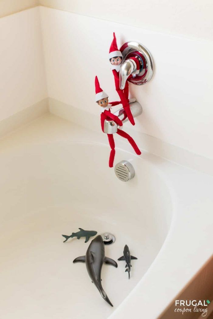 Elf on the Shelf Shark Idea - Shark Tank Danger Be