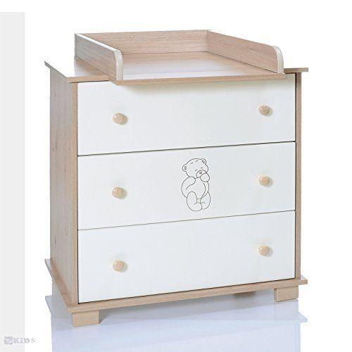 Bois naturel! Table à Langer Fixation/Top pour commode IKEA Malm ...
