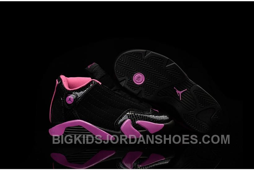 08bdae4ab524ef New Kids Air Jordan 14 Retro Black Pink