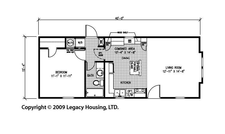 1 bedroom homes floor plans