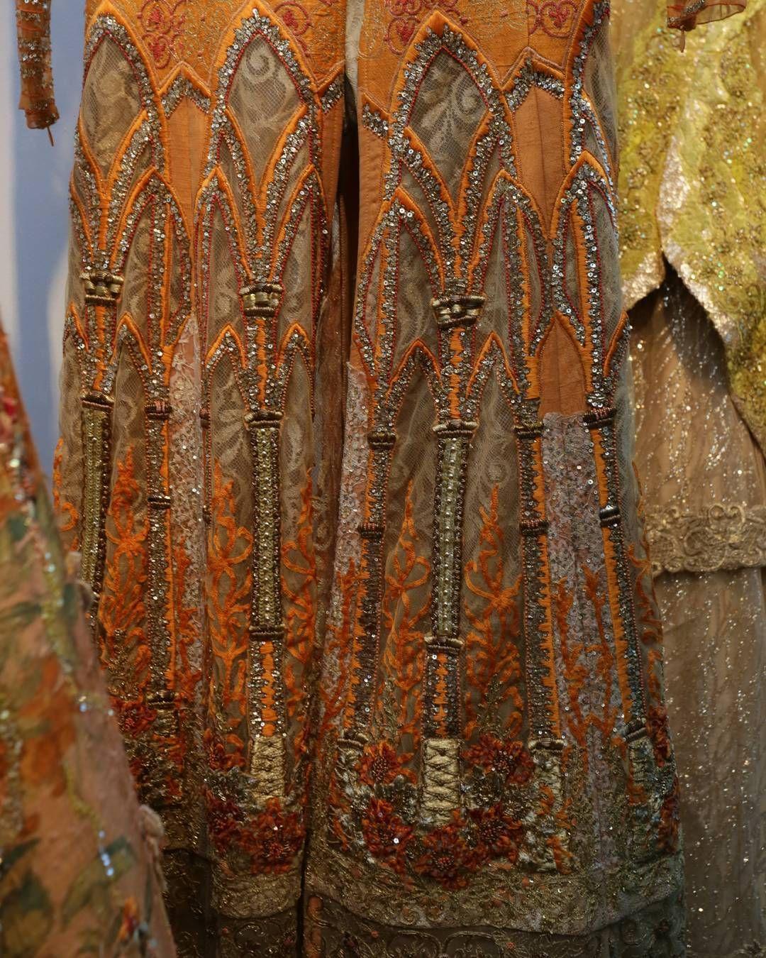 Lavish, royal orange with intricate, textured hand detailing ...