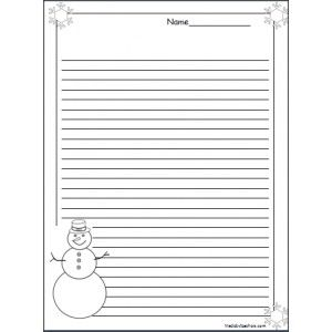 Snowman Writing Template  Google Search  Winter