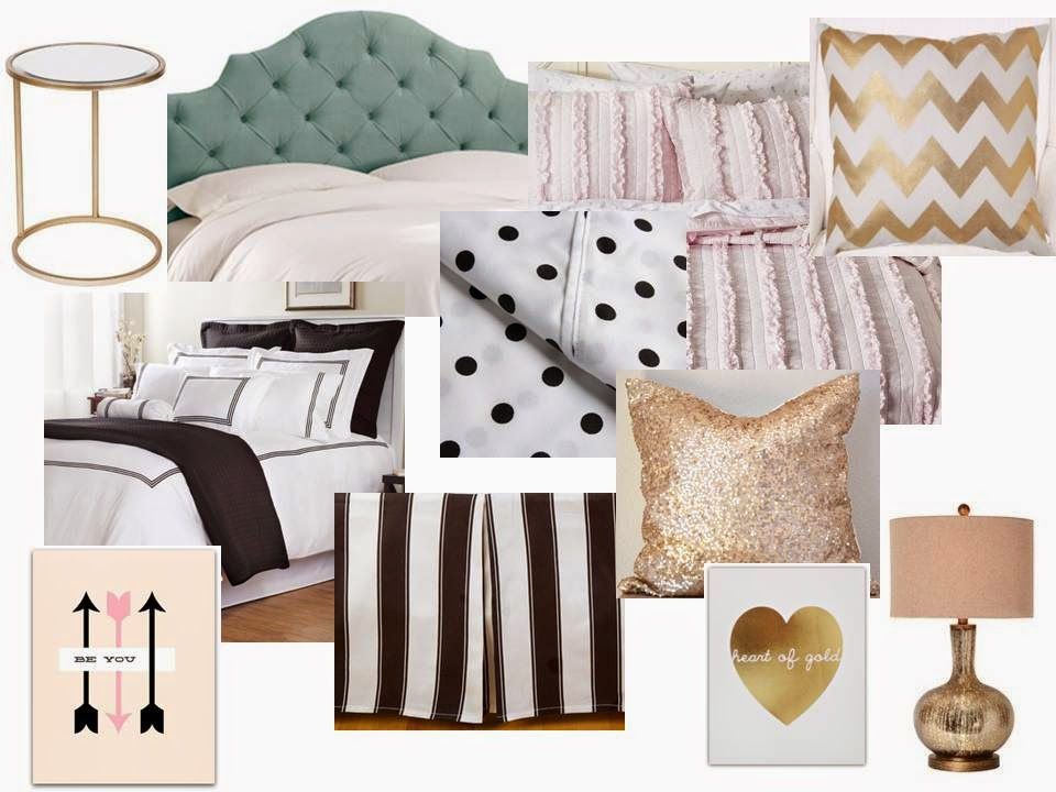 Bedroom Decor Ideas For A Teenage Girl Www.thedecorina.com | Black Gold And  White Bedroom | Pinterest