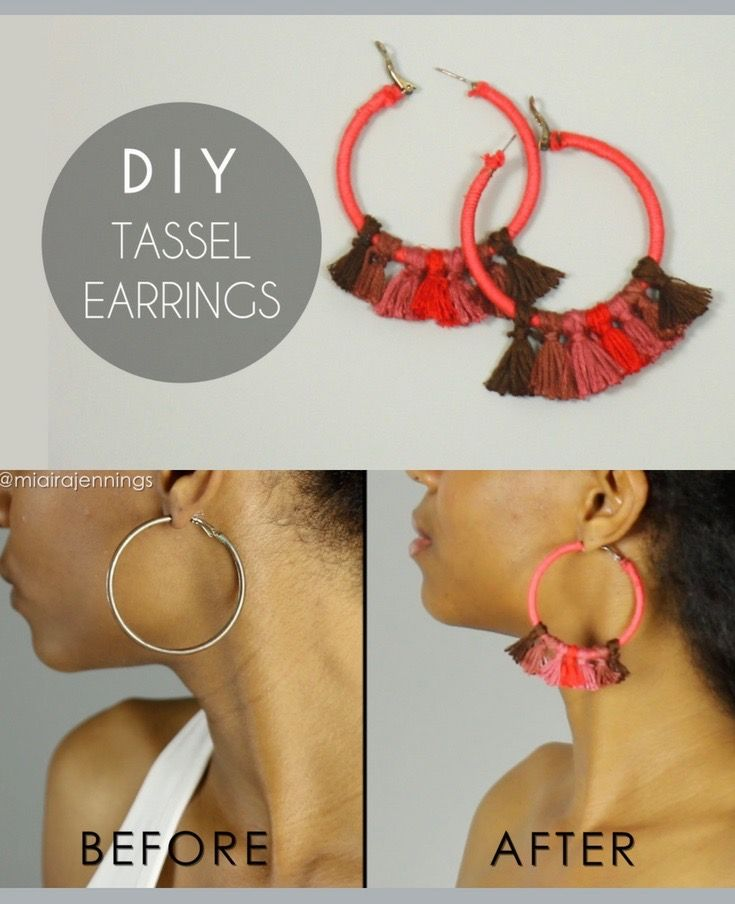 These Cute Diy Boho Chic Tassel Hoop Earrings Are So Easy To Make