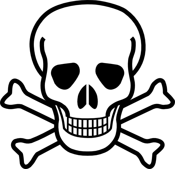 cartoon halloween pictures | Skull And Crossbones clip art ...