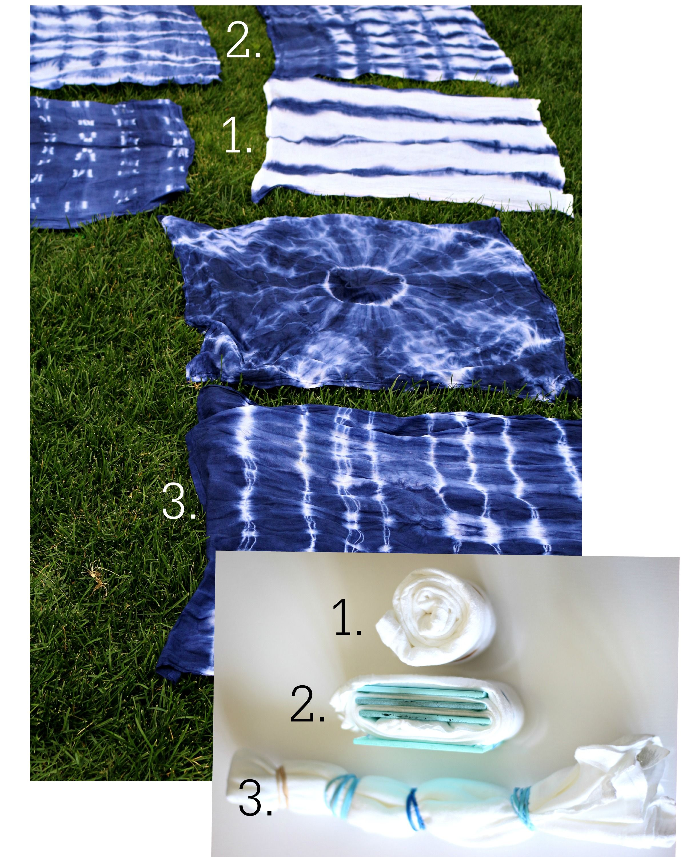 Textilien Färben How To Shibori Tie Dye Fabric Winter Project O D