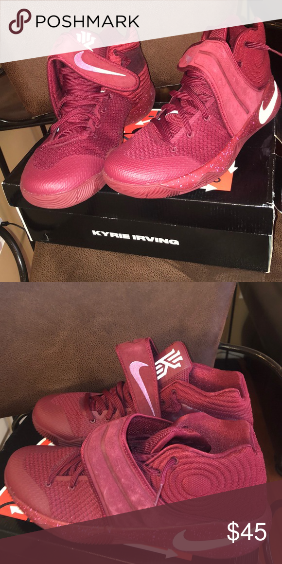eb8e4af88bd1 Kyrie 2 s Red Velvet Pure Platinum-Black Team Red Nike Shoes Sneakers