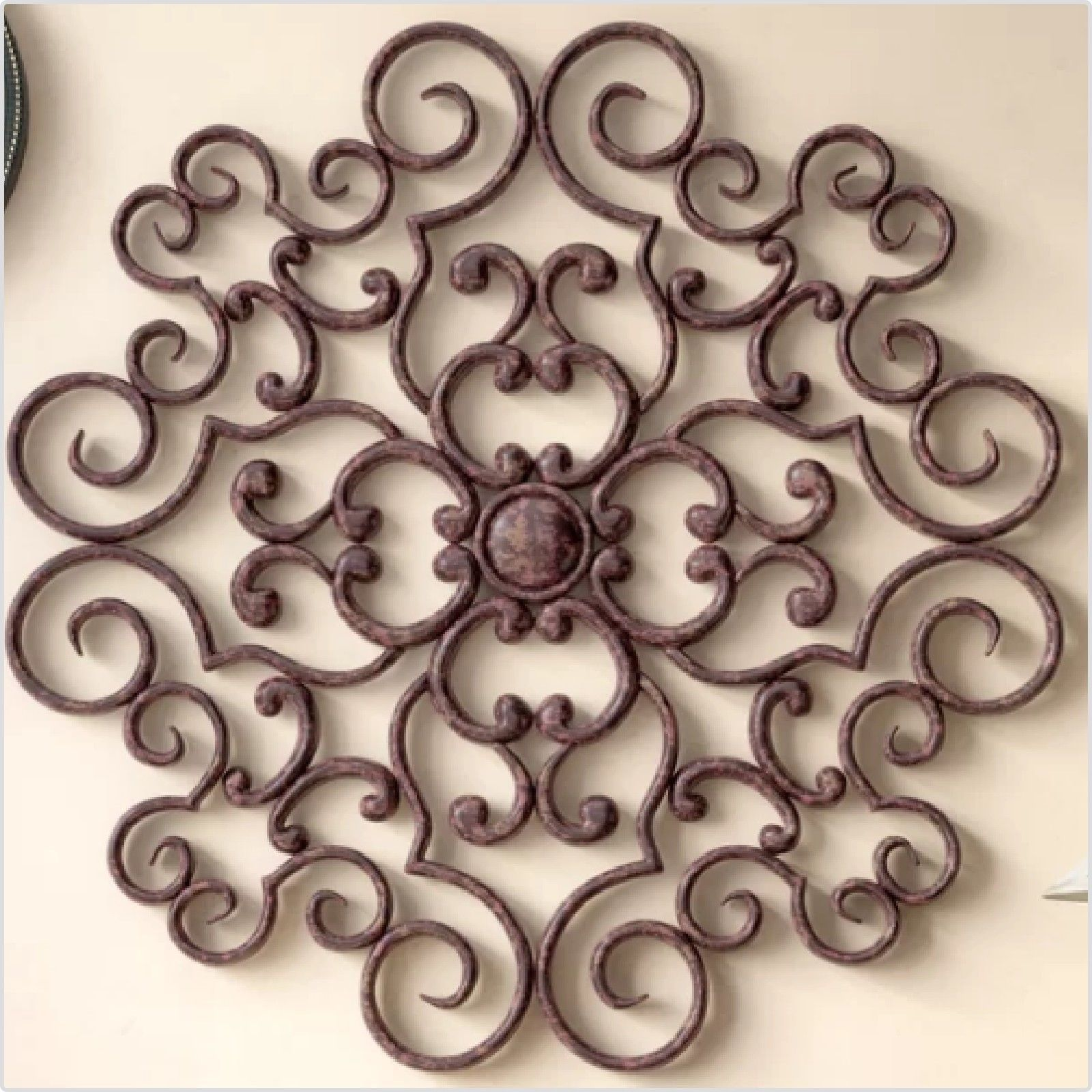 Handmade Wrought Iron Wall Bronze Large Sculpture Victorian Style Vintage Decor Iron Wall Decor Iron Wall Mediterranean Wall Decor