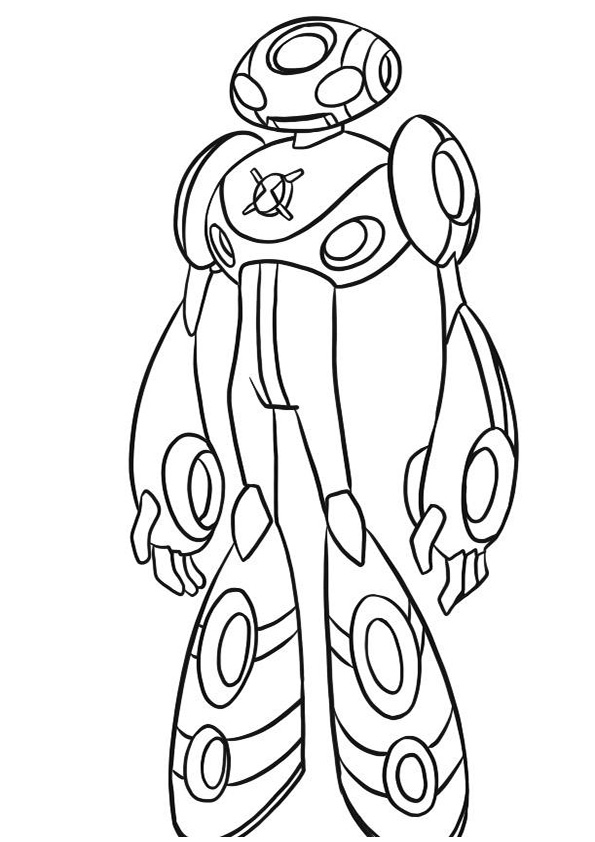 Ben 10 Stood Staring At The Enemy | Ben 10 Coloring Pages ...