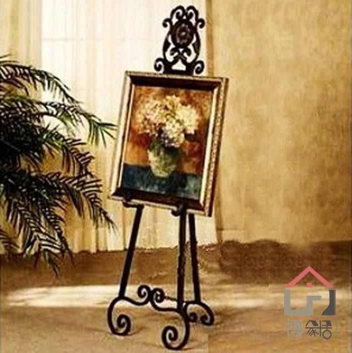 Cheap Pie de hierro forjado display caballete marco de la pintura ...