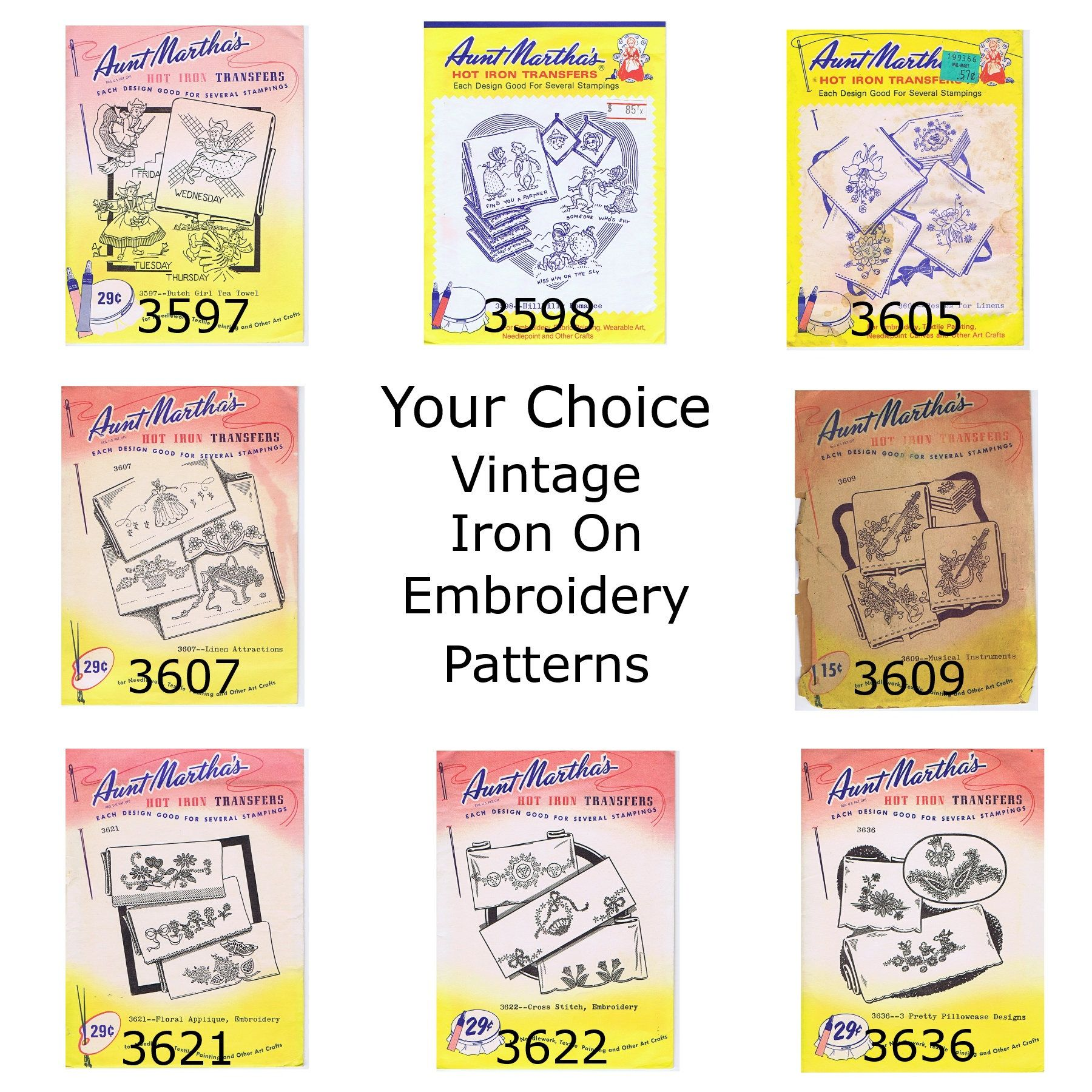 Embroidery iron on patterns your choice dutch girl hillbilly romance