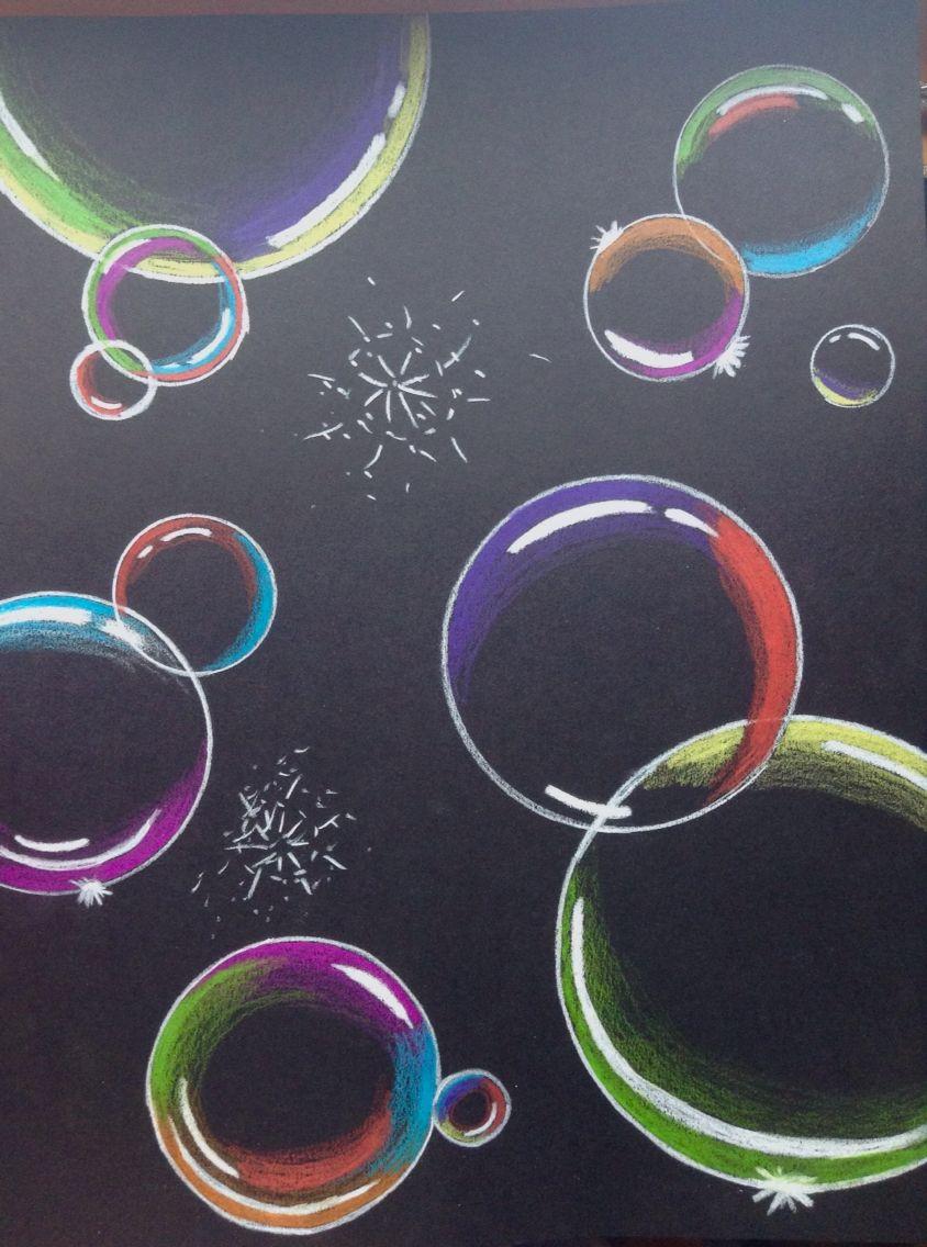 хочет рисунок мыльные пузыри на стене просто