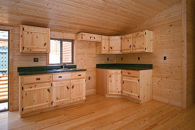 Small Rustic Cabin Kitchen | Log Cabins Pennsylvania ...