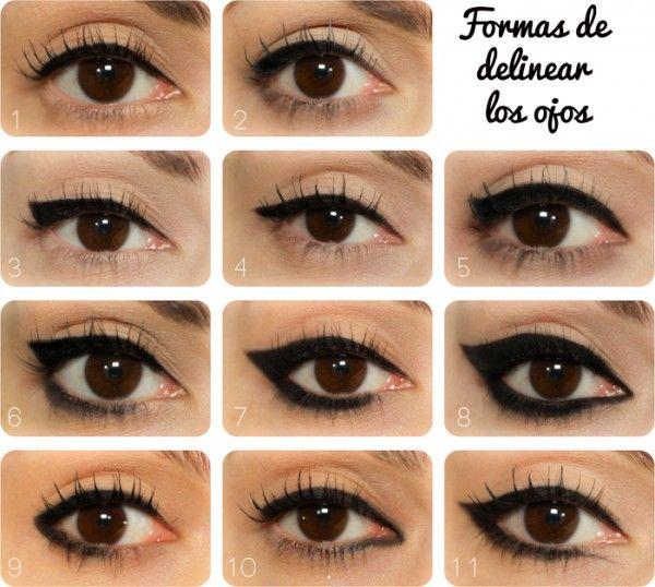 Formas de delinear los ojos Professional MAkeup Pinterest - Tipos De Cejas