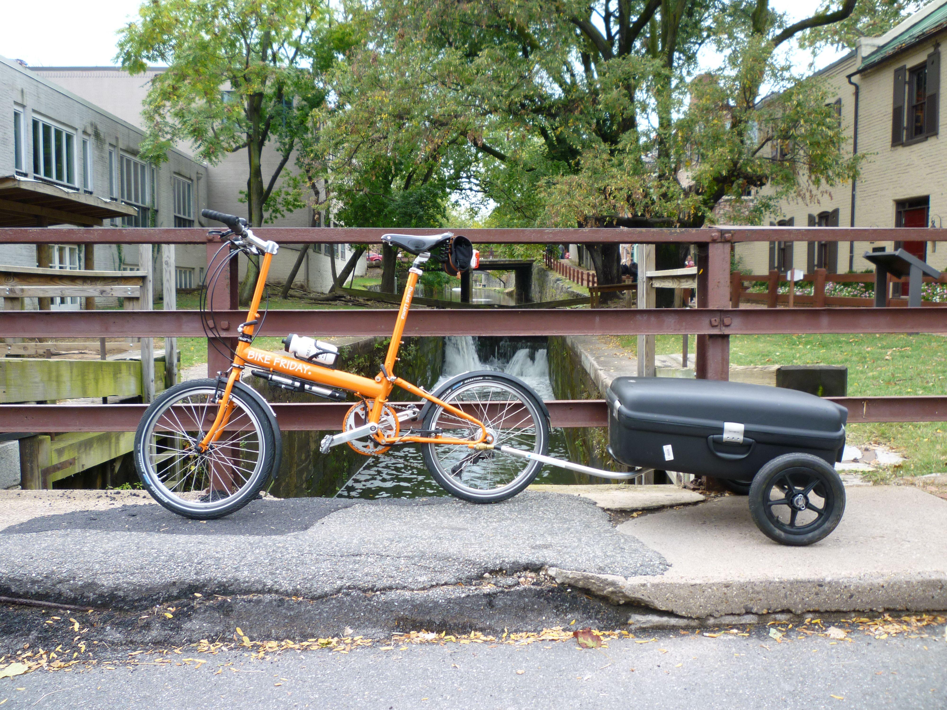 Bike Friday Pocket Llama On The C O Canal Bike Friday Urban