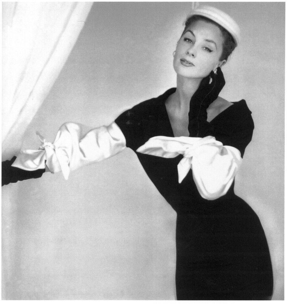 ohn Rawlings, Suzy Parker in Balenciaga, Vogue, 1953