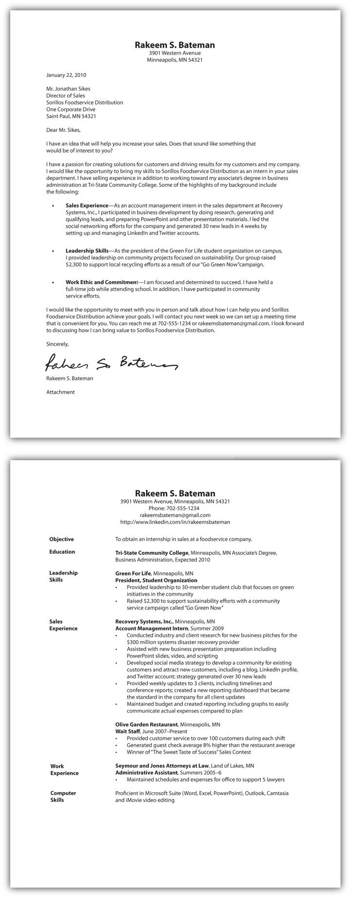 26+ Cover Letter On Resume Resume cover letter examples