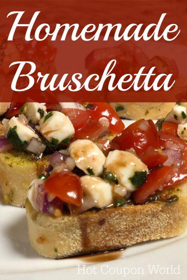 Caprese Bruschetta Recipe with Balsamic Glaze