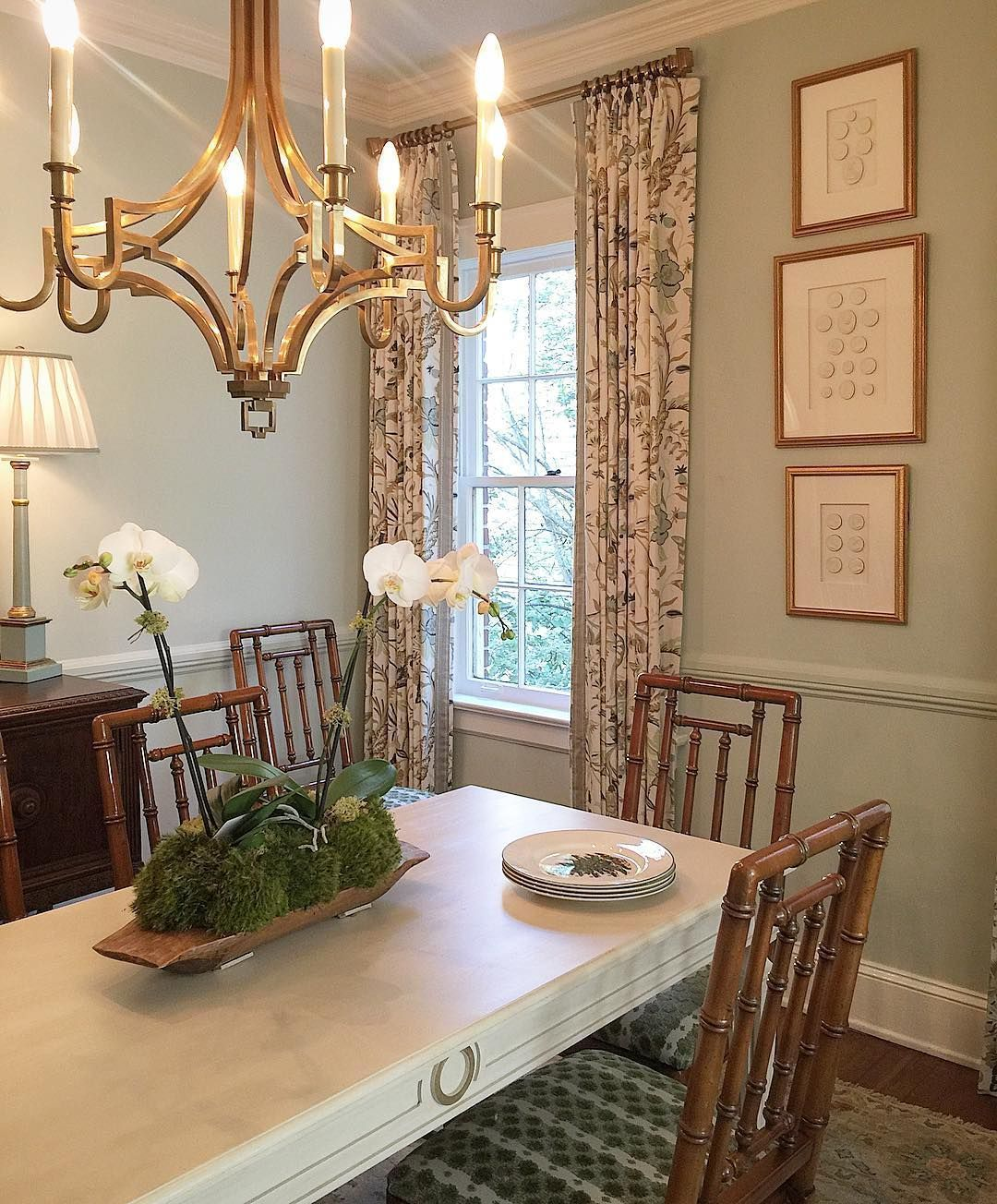 Dining Room In Benjamin Moore Par Four Closest To F B Pale Powder Circa