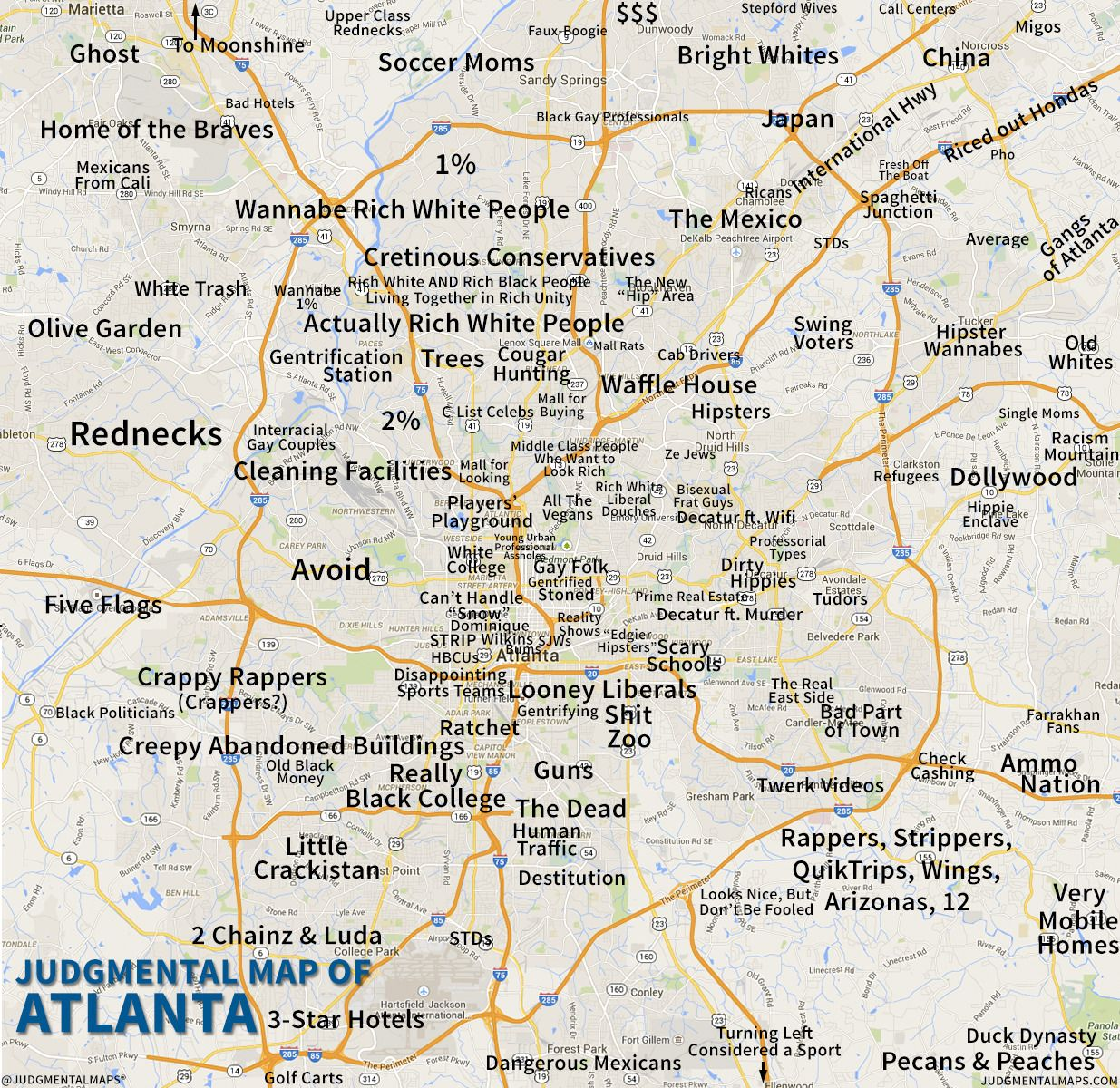 6 Maps Of Georgia That Are Just Too Perfect And Hilarious