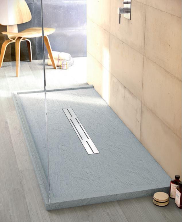 receveur de douche fiora gamme silex extra plat 2 5cm de hauteur longueur allant jusque 200cm. Black Bedroom Furniture Sets. Home Design Ideas
