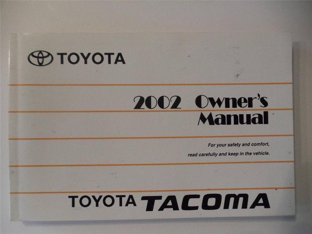 2002 toyota tacoma maintenance manual