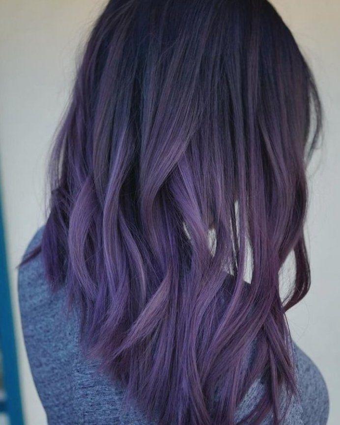 Blue   Purple Pastel Haarfarbtrends   bernehmen Instagram #balayagehair #hairmak…