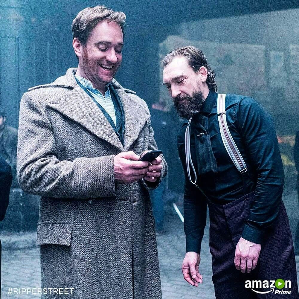 Edmund Reid And Jedediah Shine Behind The Scenes Of Ripper Street