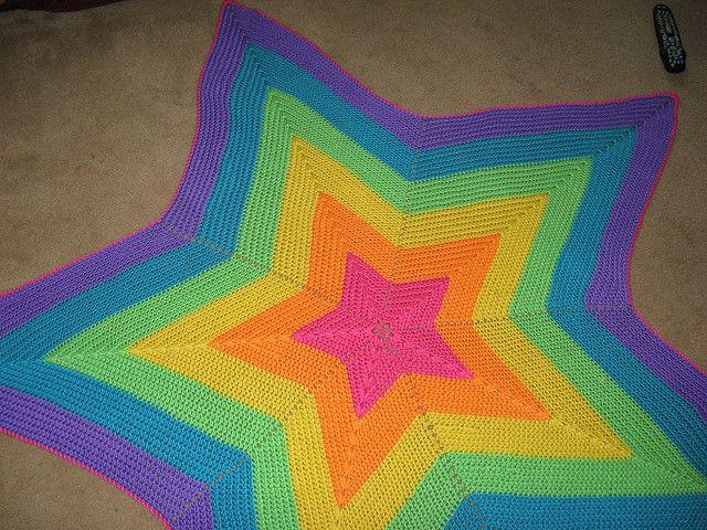DIY- Crochet star blanket! :) | Pitter Patter. | Pinterest | Maquillaje