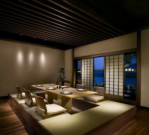Sala de jantar japonesa moderna decoracao pinterest for Casa moderna japonesa