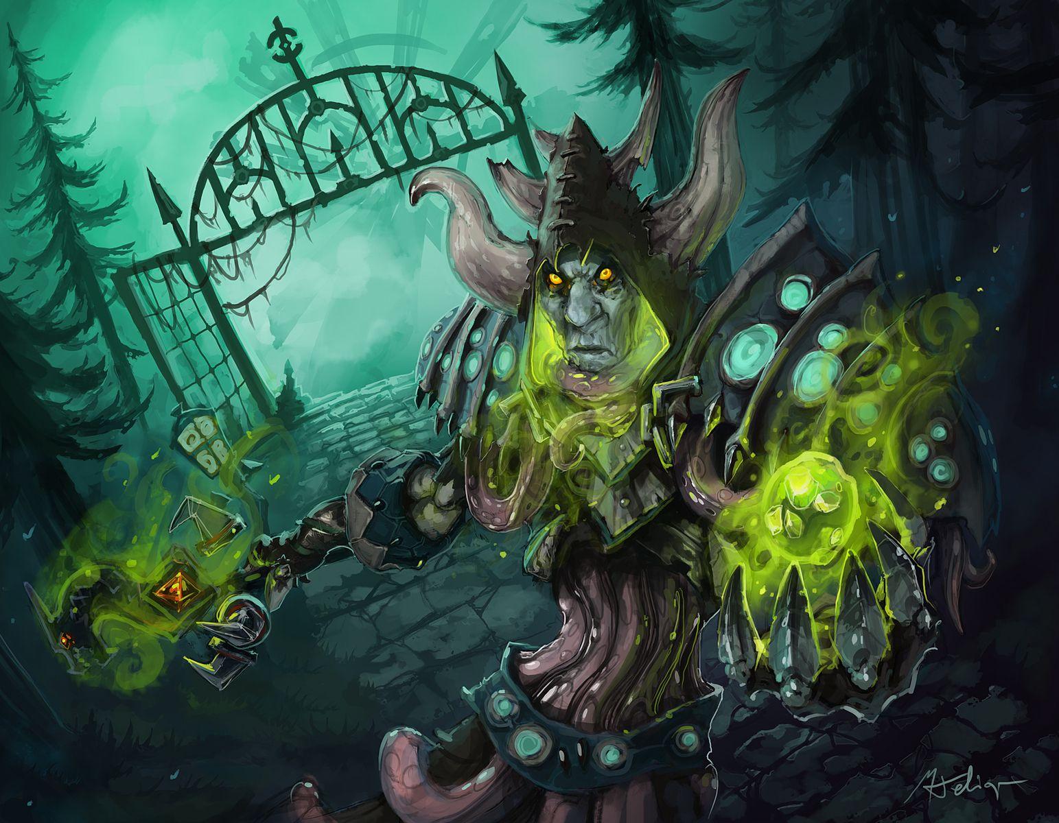 Undead Warlock World Of Warcraft Wallpaper World Of Warcraft