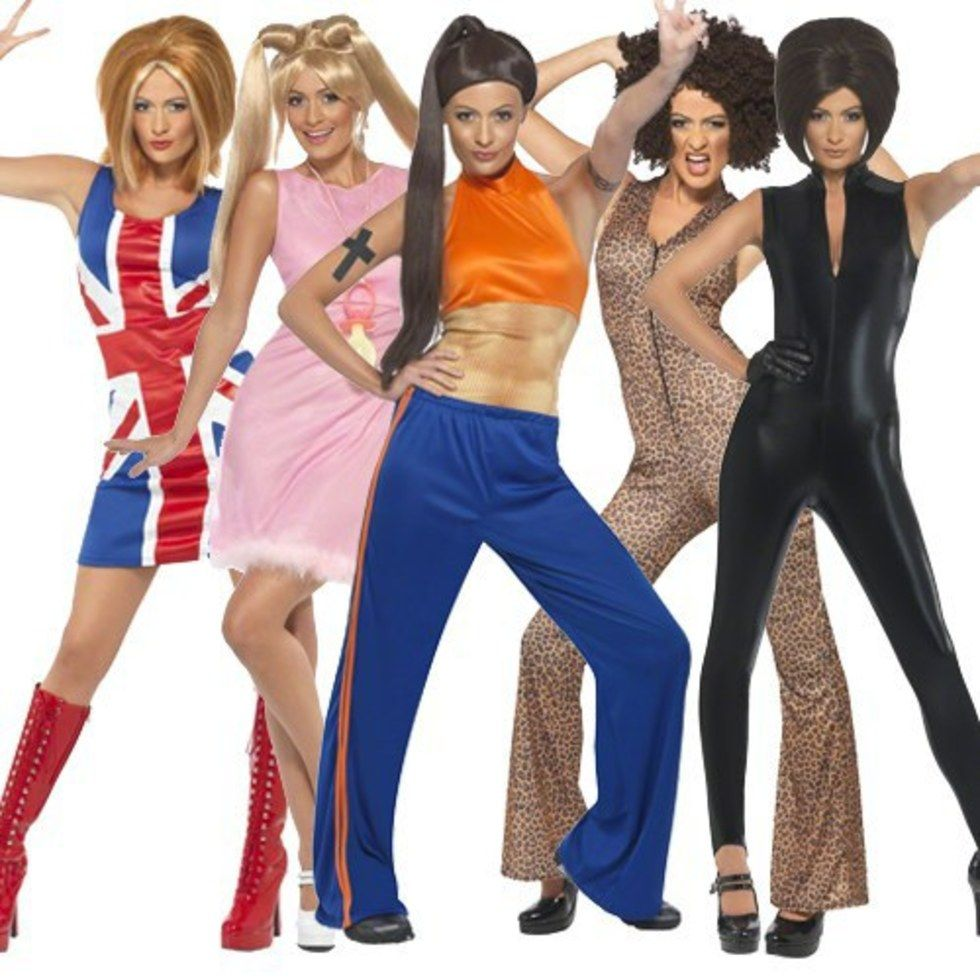 11 Halloween Costumes We Wore As 90 S Kids That Need To Make A Comeback Baby Spice Costume Spice Girls Fancy Dress Sporty Spice Girl
