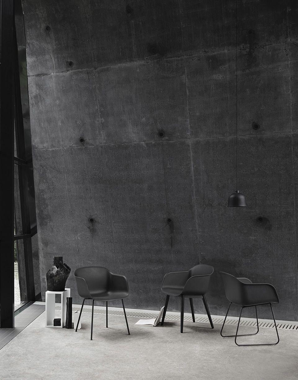 Monochrome blacks  Minimal black furniture by Danish design brand