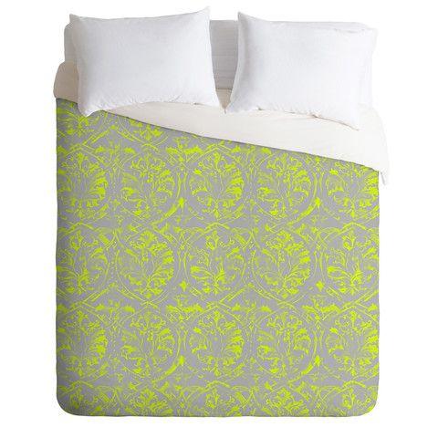 Pattern State Deer Damask Pop Duvet Cover