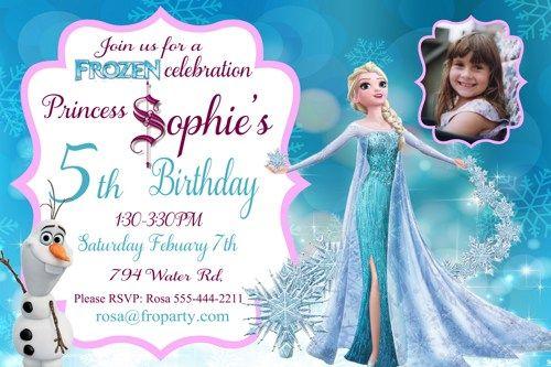 Printable Frozen Birthday Invitation Frozen Personalized Birthday