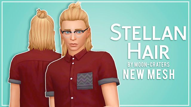 Sims 4 CC's - The Best: Stellan Hair for Males by ...
