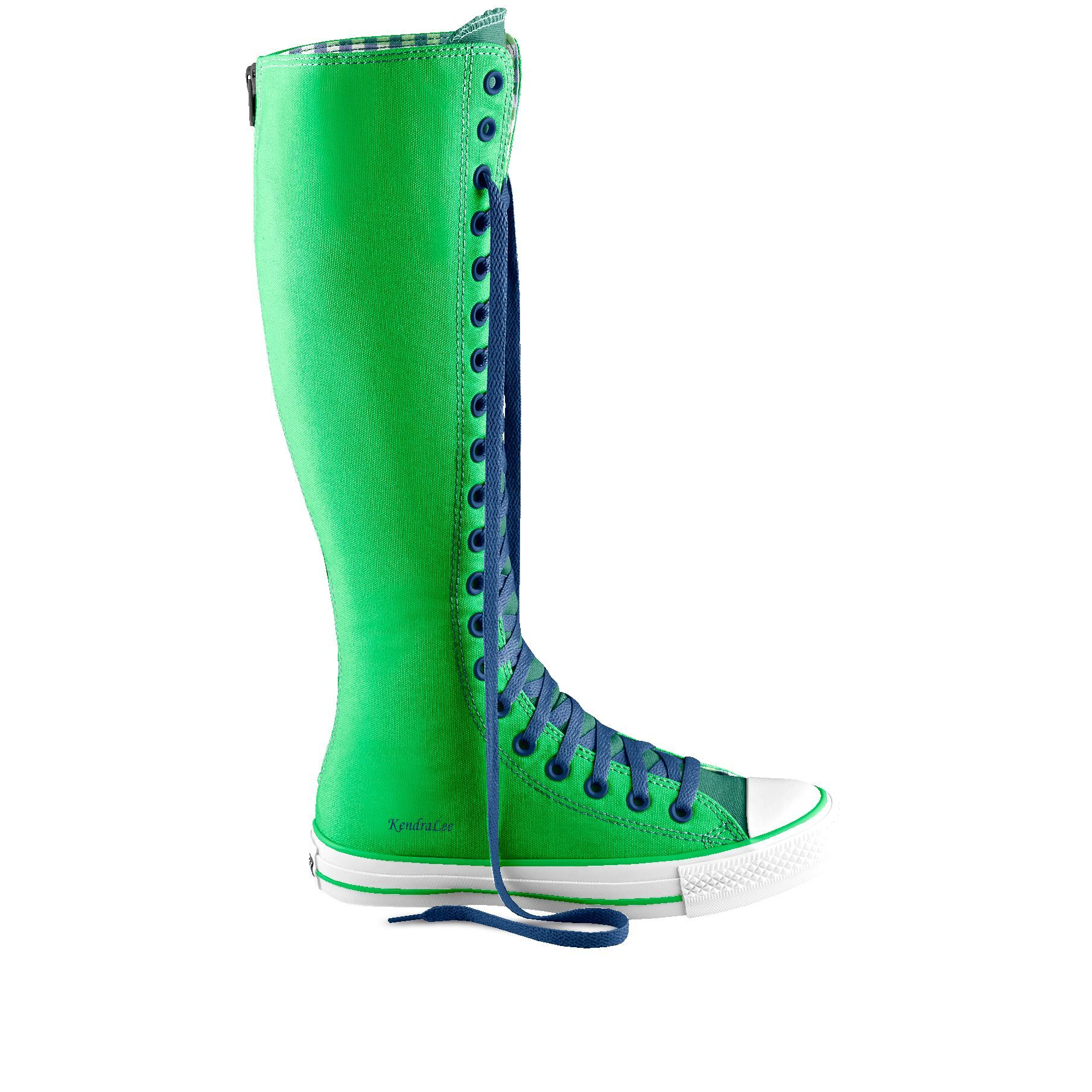 5ead30d2c752 Knee-hi green and blue Converse. I will own these. Knee High Converse