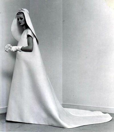 1960s Balenciaga Wedding Dress