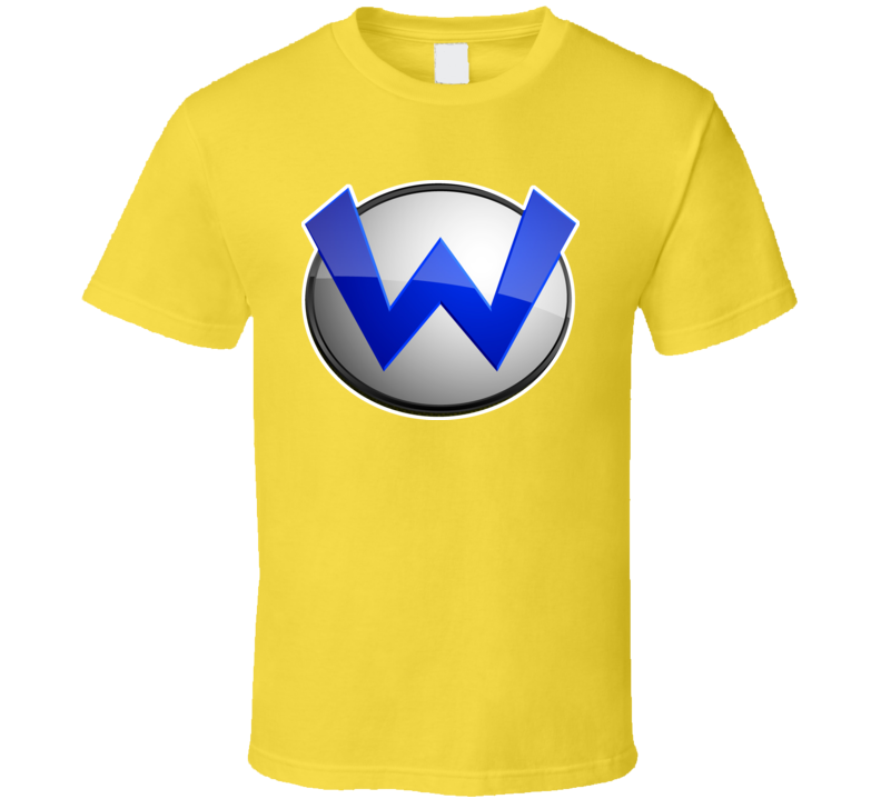 Super Mario Bros Wario Logo Retro Video Game T Shirt