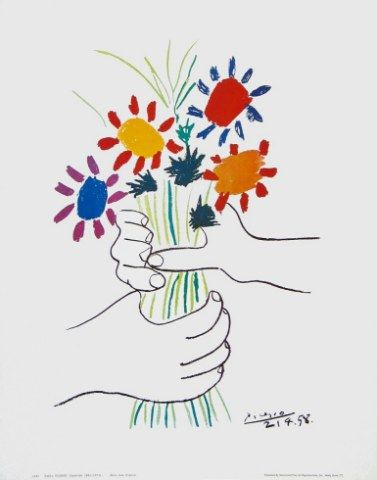 bouquet of flowers/Picasso
