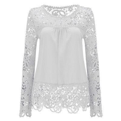 84066e00398 Autumn Plus Size Women Chiffon Shirt Blouse