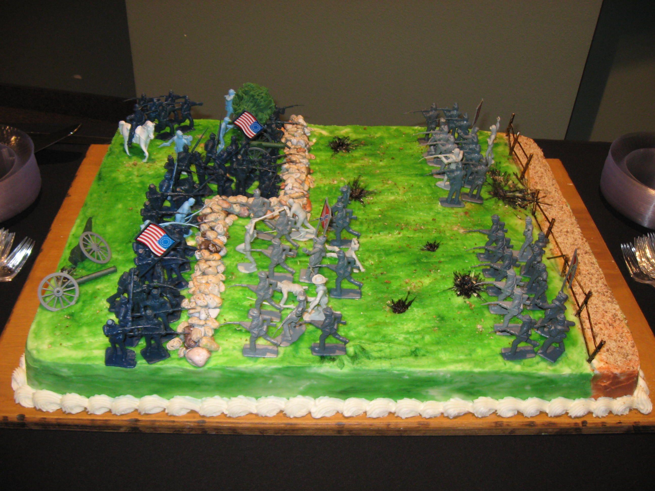 Confederate War Battle Ground Grooms Cake