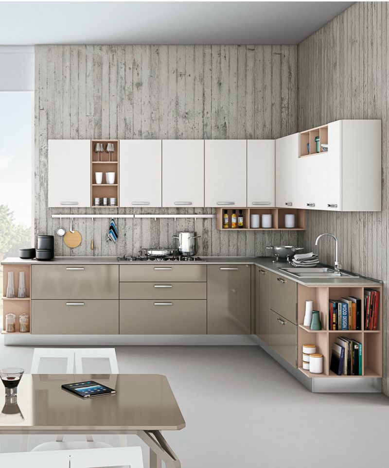 Linear Fitted #kitchen With Handles ZOE By CREO Kitchens